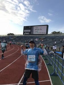 西京極競技場スタートで気分が高揚しました!